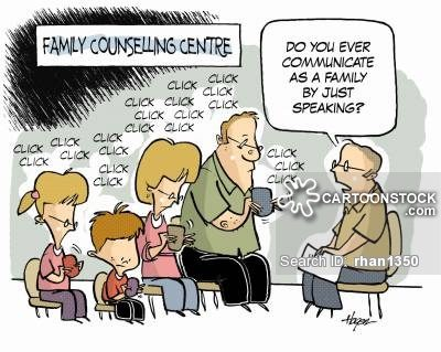 'Do you ever communicate as a family by just speaking?'