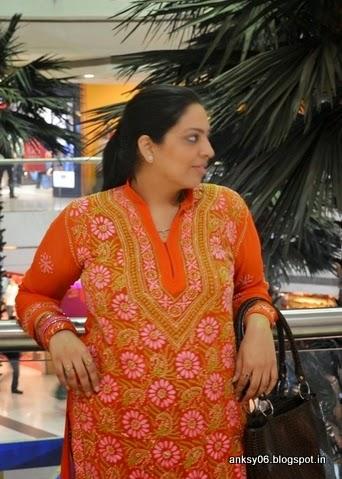 Orange Georgette Kurta